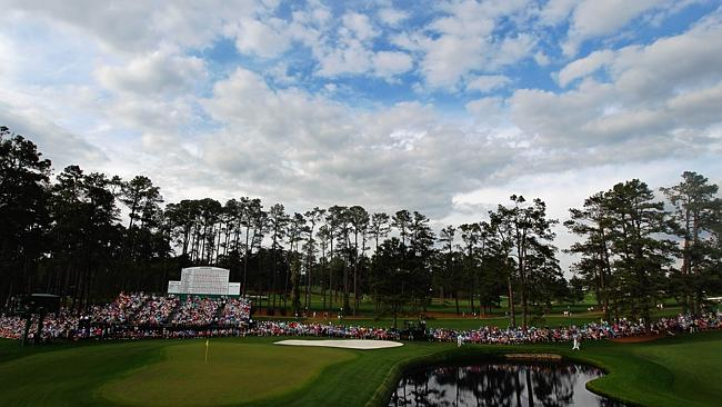 The 15th hole at Augusta.