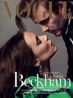 Victoria and David Beckham on the cover of Vogue Paris.