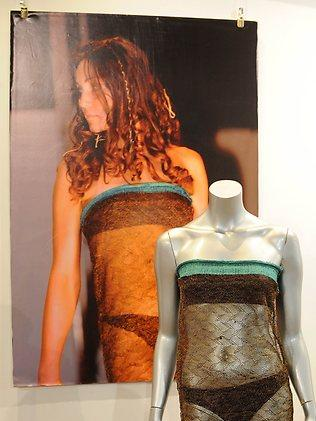 A see-through dress worn by Kate Middleton during a charity fashion show at St Andrews Universty in 2002.