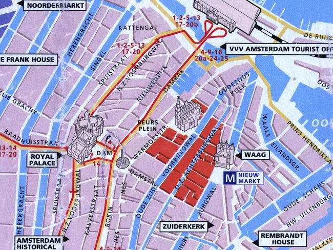 A map of red light district of Amsterdam, where sex workers are taking back the power.