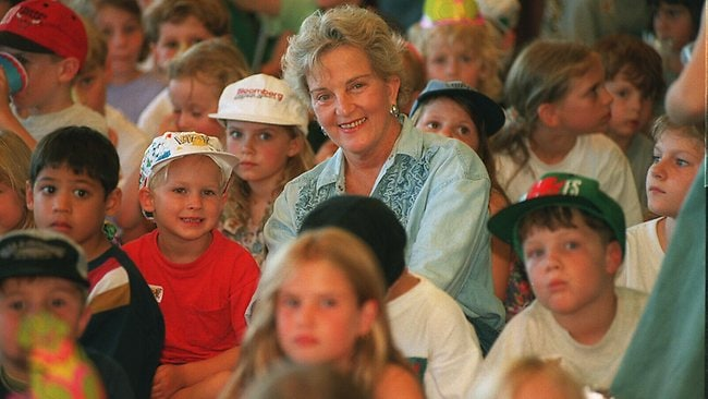 Hazel Hawke at the launch of an ABC children's TV show in 1995.