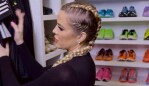 Image: Khloe Kardashian is famous for her neat, colour-coordinated fitness cupboard. Photo: KhloeKardashian.com
