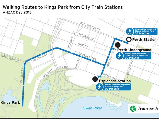 How to get to perth s anzac day dawn service at kings park for Bus timetable perth 85