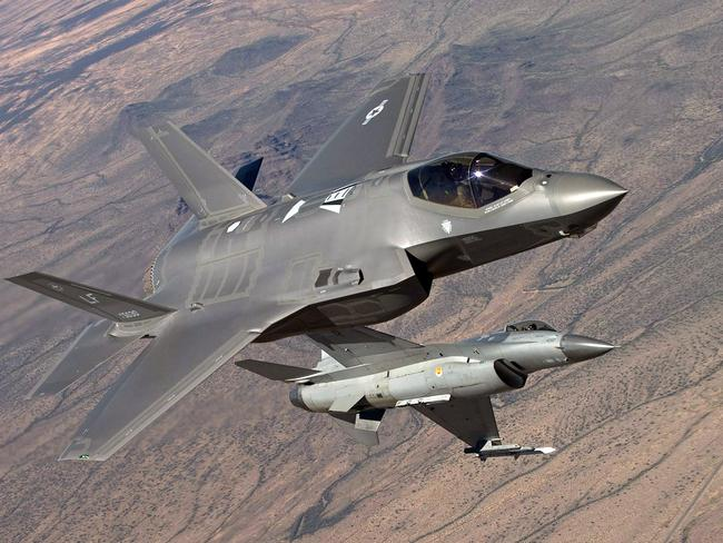 Knife fight ... Stealth and multi-role compromises are said to have made the F-35 less manoeuvrable than previous generation aircraft. Source: US DoD
