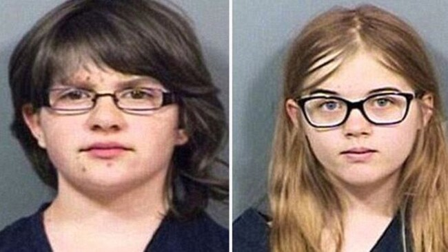 Anissa Weier and Morgan Geyser (pictured aged 12) were accused of stabbing classmate Payton Leutner. Picture: Supplied