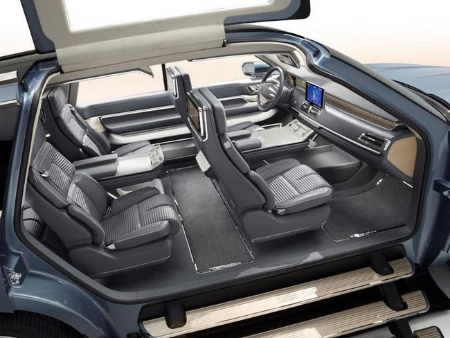 Doors lift up ... The Ford Lincoln Navigator concept vehicle from the 2016 New York auto show. Picture: Supplied
