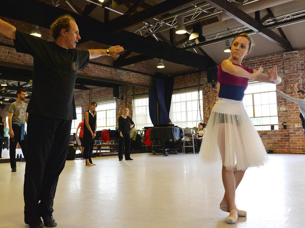 The WA Ballet company rehearses at its $12.5m state of the art ballet centre in Maylands. Picture: Stewart Allen.