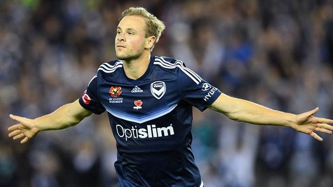 Maxi Beister scored on debut for Victory. Picture: Getty