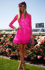 Myer Fashions on the Field Ambassador Georgia Connolly poses on Melbourne Cup Day at Flemington Racecourse on November 3, 2015 in Melbourne, Australia. Picture: Zak Kaczmarek/Getty Images for the VRC