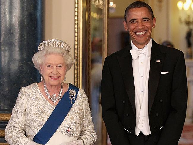 Queen with US Presidents: Queen Elizabeth with President Barack Obama at Buckingham Palace in 2011. Photo: AP