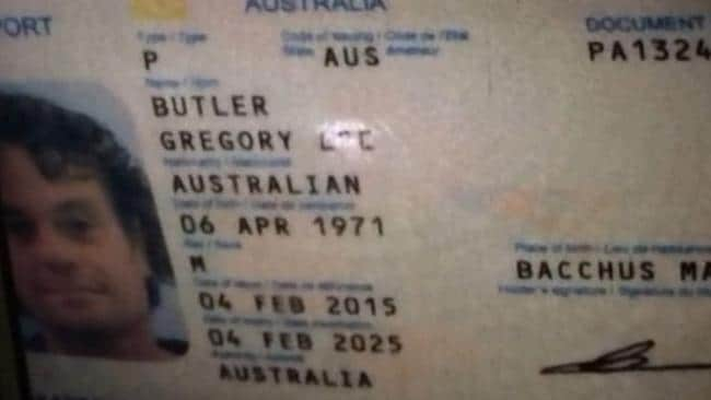 Australian man Gregory Butler's passport shows he was born in Victoria. Picture: Supplied