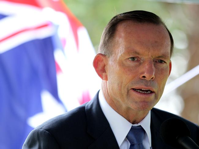 Fighting words ... Tony Abbott has reminded Indonesia about Australia's help after the Tsunami. Picture: Chris McCormack.