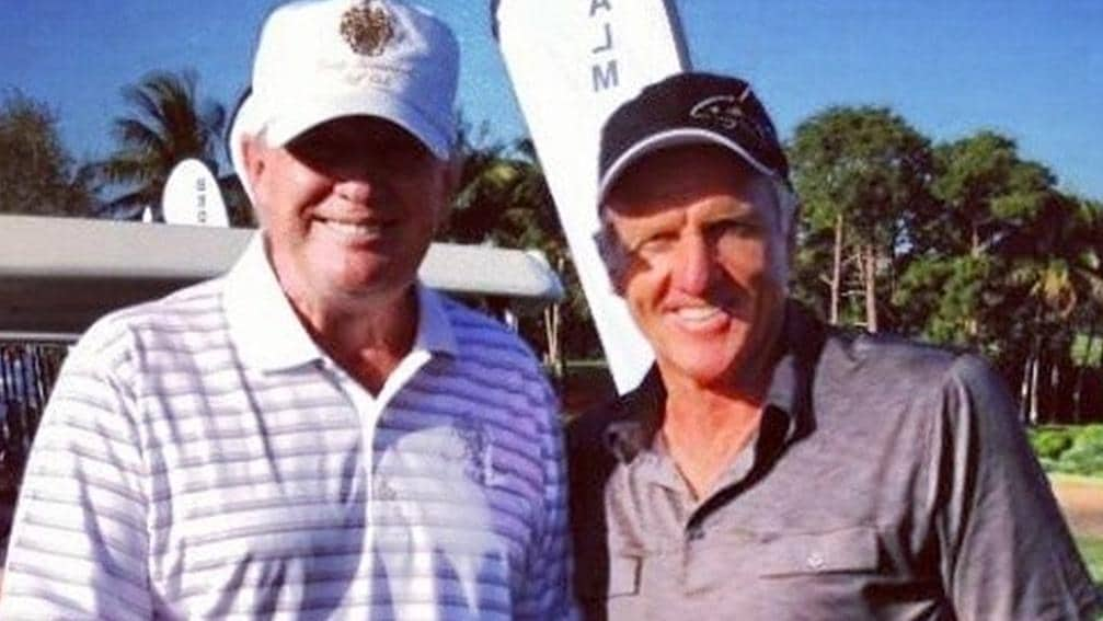 Greg Norman and Donald Trump have been friends for years. Picture: Supplied