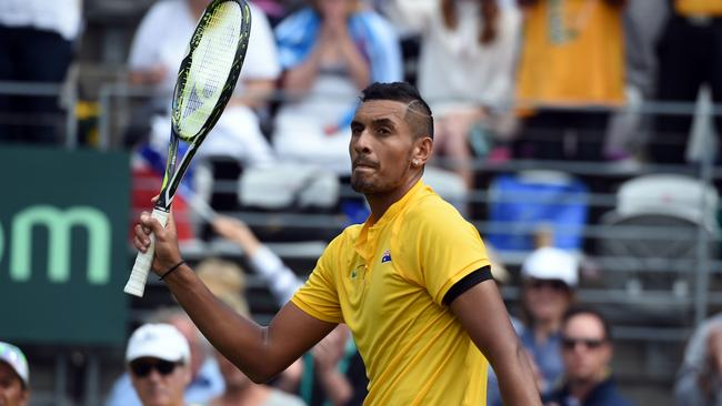 Andre Agassi likes Nick Kyrgios' openness. Picture: AFP