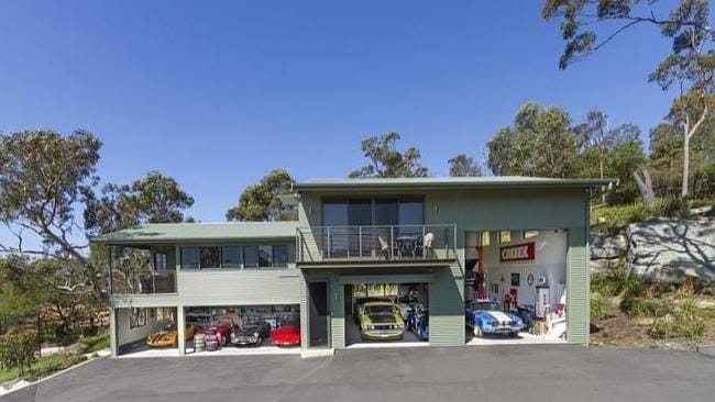 This property at Terrey Hills, has a helicopter hangar and a drive in cinema on site.