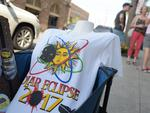 An eclipse t-shirt is seen for sale on a street near the City Market in Charleston, South Carolina, on August 20, 2017. Picture: AFP PHOTO / MANDEL NGAN