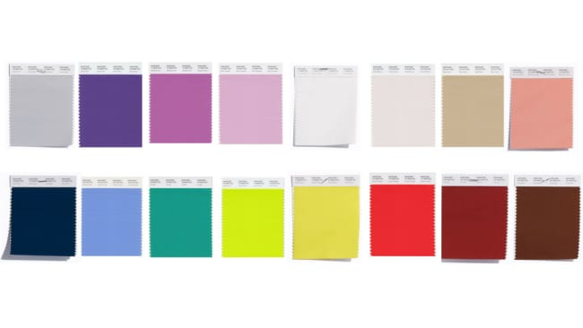 All the colours you'll be seeing this Spring Photo: Pantone Colour Institute