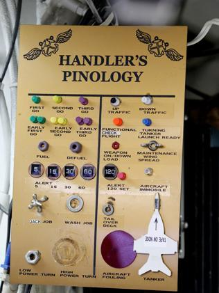 Handlers pinology in the flight control room. Picture: Jeff Camden