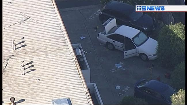 An aerial look at the building. Picture: Nine news chopper.
