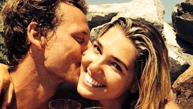 "Aussie model Ash Hart celebrates her engagement to Buck Palmer. ""#iloveyouBeyondtheMoon @buckpalmer"
