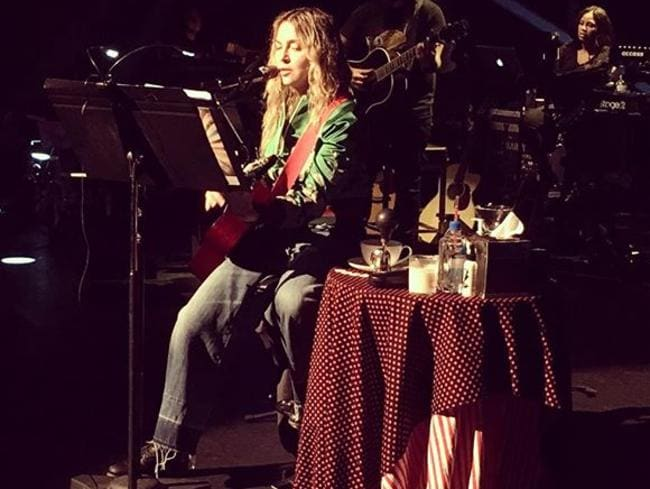 Madonna rehearsing for her Tears Of A Clown theatre show for fans. Picture: Guy Oseary / Instagram