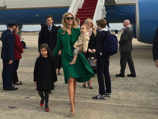 """Arriving in Washington DC with my family. A very special moment! #MAGA #Inauguration 2017"". Picture: @ivankatrump/Instagram"