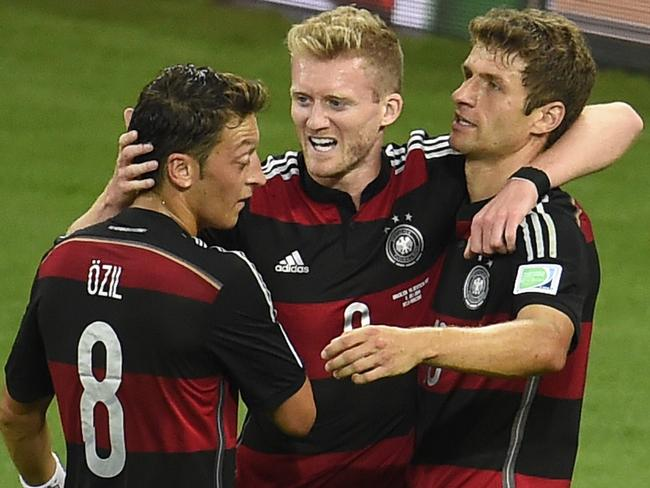 Andre Schuerrle (middle) has been fantastic for Germany, often coming off the bench.