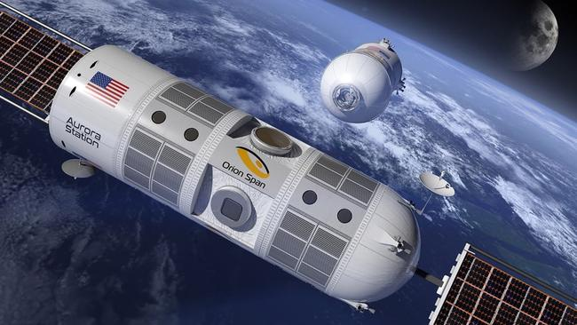 Guests will be escorted to Aurora Station via a rocket from Earth. Picture: Orion Span