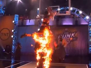 When dunking over a flaming human is not enough
