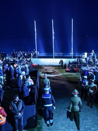 Anzac soldiers arrive for the dawn service marking Anzac Day in Gallipoli on April 25, 2017, to mark the 102st anniversary of the ill-fated Gallipoli campaign in World War I. Turkey and former World War I Commonwealth foes of the Ottoman Empire joined together to honour the tens of thousands killed at the Battle of Gallipoli 101 years ago in one of the most futile yet emblematic campaigns of the conflict.AFP PHOTO/OZAN KOSE / AFP PHOTO / OZAN KOSE
