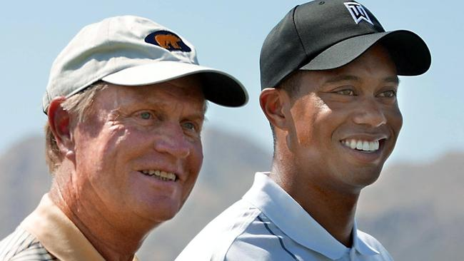 Tiger Woods with Jack Nicklaus in 2002.