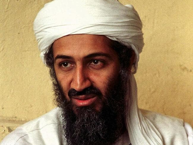 Osama bin Laden when he was alive in Afghanistan in 1998. Picture: AP