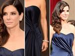DETAILS: Sandra Bullock on the red carpet at the Oscars 2014. Picture: Getty