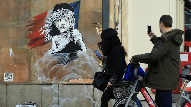 Banksy's graffiti artworks are renowned across the world.