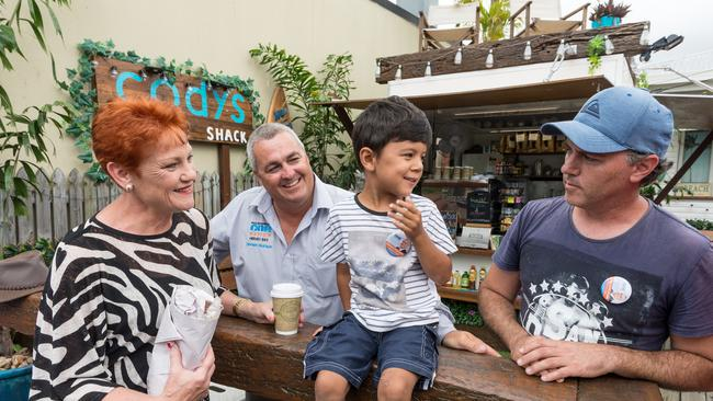 Pauline Hanson is campaigning to ensure success in the Queensland state election. Picture: AAP Image/Paul Beutel.
