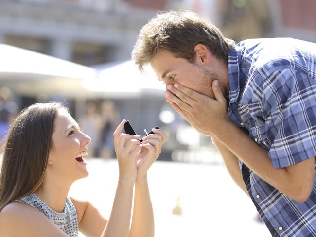 February 29, the day women are encouraged to get down on one knee and propose to their partner. Picture: iStock.
