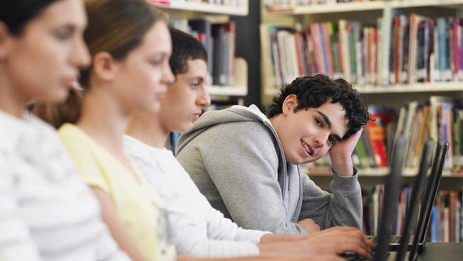 Students described how white, male students talked over them in class. Picture: istock.
