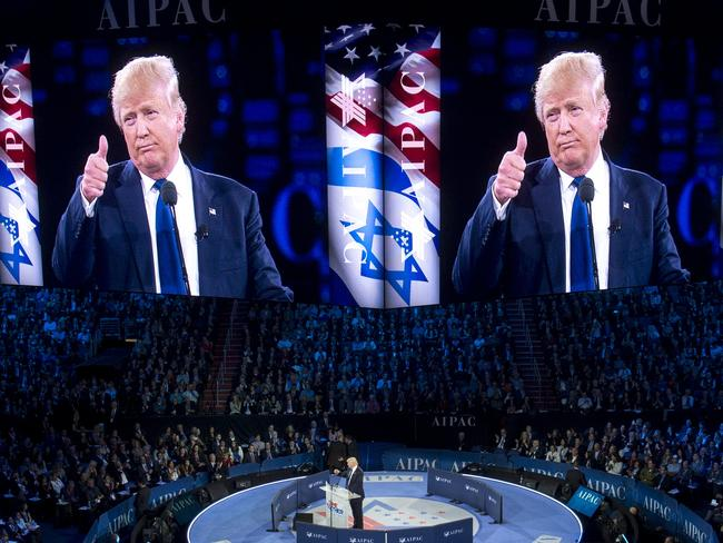 Donald Trump wanted to help make Israel 'great again' but Obama has beaten him to the punch.Picture: Saul Loeb/AFP