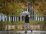 Wet weather lashes Perth. Photo: Daniel Wilkins