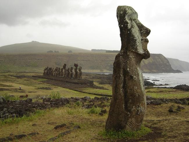 Moais sculptures on Easter Island. Picture: Clair Weaver.