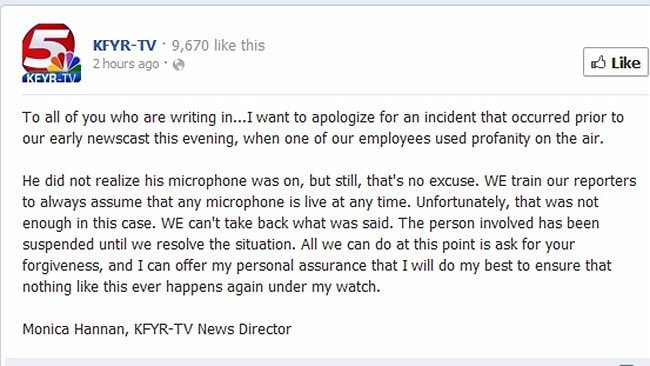 KFYR-TV's Facebook post