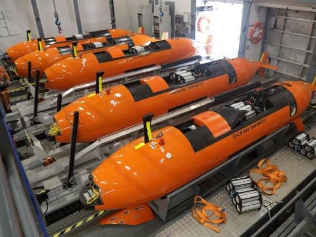 <i>Seabed Constructor </i>will scour the seabed for MH370 using eight autonomous underwater vehicles (AUVs) simultaneously. Picture: Swire