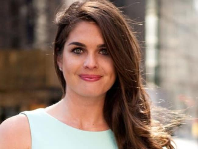Hope Hicks, 28, will act as Donald Trump's communications director. Picture: Supplied
