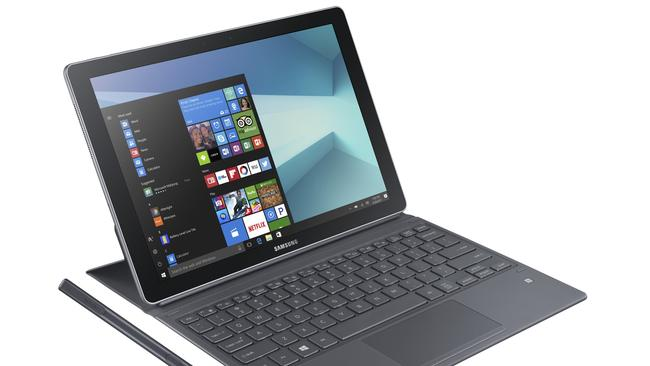 The Samsung Galaxy Book features a 12-inch touchscreen, and comes with a keyboard cover and stylus.
