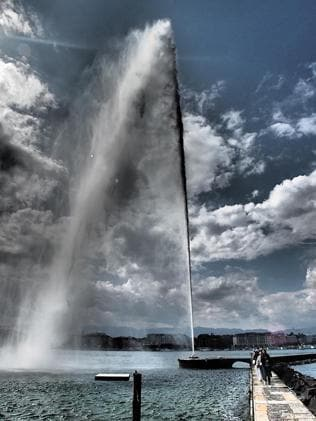 The Geneva water spout. Picture: Peter Shaw