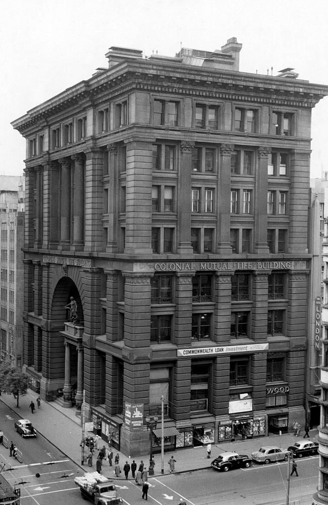 1957: The Colonial Mutual Life Building. Picture: Herald Sun Image Library/ARGUS