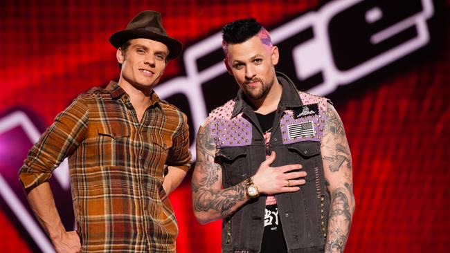 Danny Ross and his coach Joel Madden.