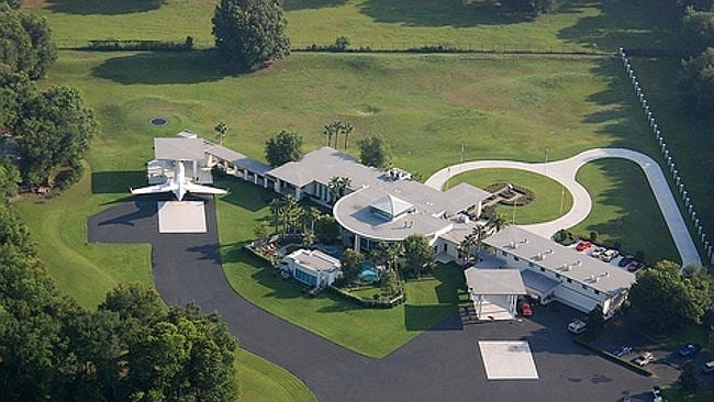 John Travolta's home complete with runway for his jets in Ocala, Florida. Picture: Supplied.