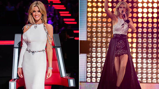 Delta Goodrem rocked out in some stunning outfits, even if her dancing wasn't quite up to scratch. Picture: Twitter