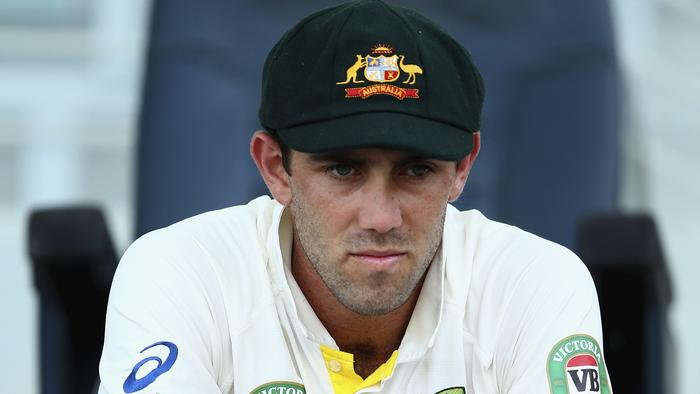 ABU DHABI, UNITED ARAB EMIRATES - NOVEMBER 02: Glenn Maxwell of Australia waits to bat during Day Four of the Second Test between Pakistan and Australia at Sheikh Zayed Stadium on November 2, 2014 in Abu Dhabi, United Arab Emirates. (Photo by Ryan Pierse/Getty Images)